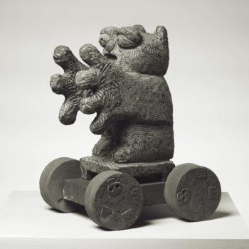Agitatorowl incl. wagon | Sandstone | 52 x 32 x 38 cm | Sandstone | 2012