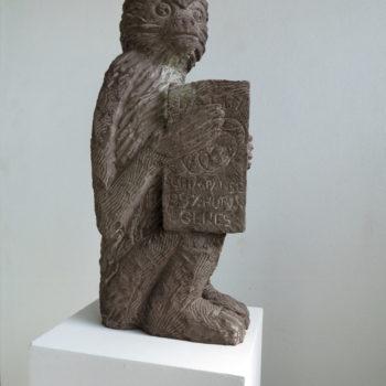 Gibbons don`t have good Press   65 x 35 x 17 cm   Sandstone   2014