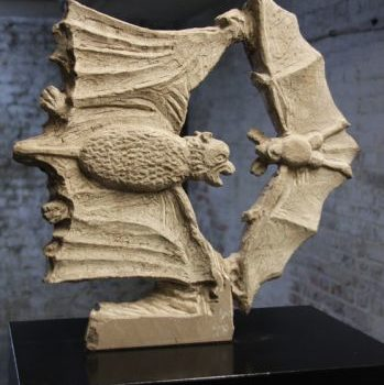 Bat Battle | Sandstone | 50 x 50 x 5 cm | 2009