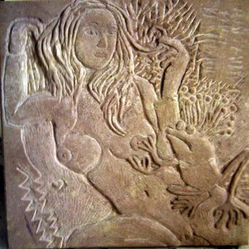 Frog King   Sandstone   50 x 50 x 5 cm   2006