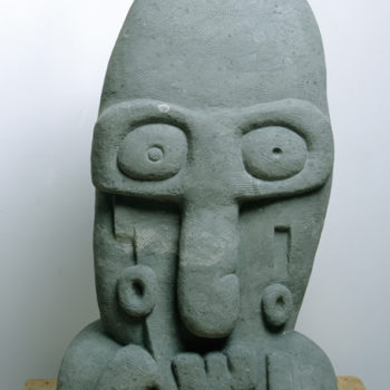 Dr.Bootygrabber | with Uwe Henneken | Sandstone | 150 x 50 x 25 cm | 2005