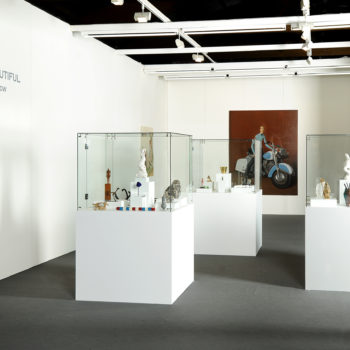 Booth of Sorry we`re Closed   Mini Sculptures Show   Art Brussels 2010