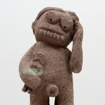 Monster with Totem of Love | Sandstone | 50 x 30 x 20 cm | 2010