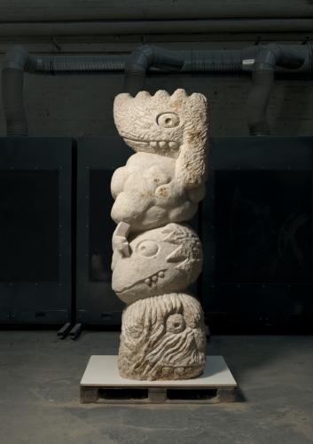 Sandstone sculpture, Mistral Boys, Stefan Rinck